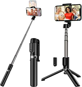 Yoozon Selfie Stick Tripod Bluetooth, Extendable Phone Tripod Selfie Stick with Wireless Remote Shutter for iPhone Xs MAX/XR/XS/X/8/8P/7/7P/6s/6, Galaxy S9/S8/S7/S6/Note 9/8, Huawei and More