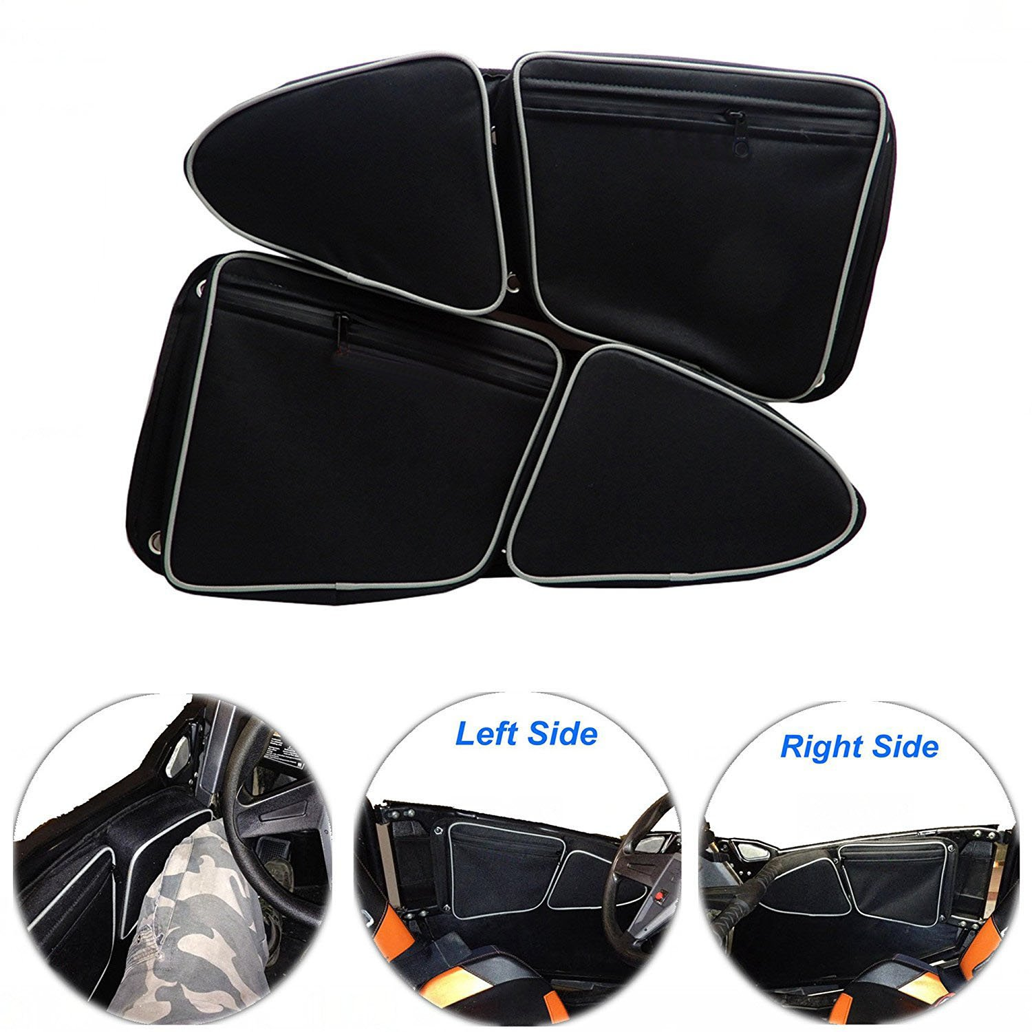 EPSILONT Side Door Bags for Polaris RZR XP 1000 900XC S900 Passenger And Driver Side Storage Bag with Knee Protection (SET OF 2)