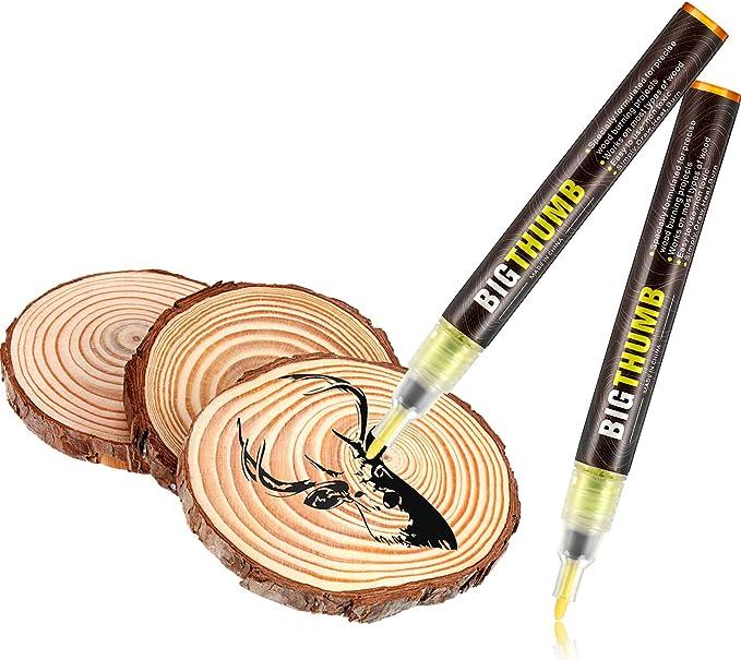 Fine Tip Wood Burner Tool FocuStar Chemical Wood Burning Marker Easy and Safe - Scorch Pen for DIY Wood Projects 3mm Wood Burning Pen Marker