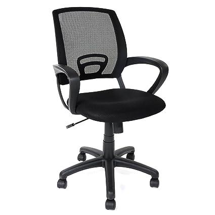 amazon com simlife mid back mesh desk chair black home kitchen