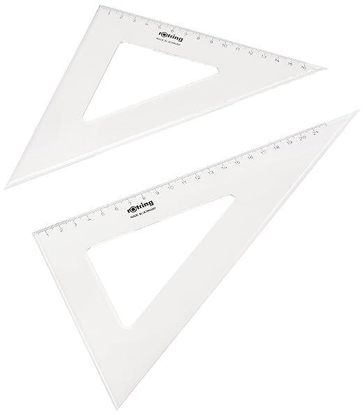 13 opinioni per Rotring S0237840- Set di squadre da disegno in plastica trasparente