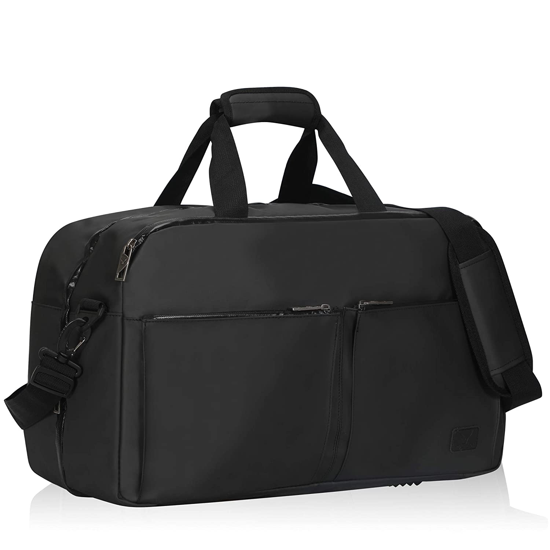 Hynes Eagle Duffel Bag Weekender Overnight Bag Luggage Bag Travel Bag 36L, Grey HE0846-2