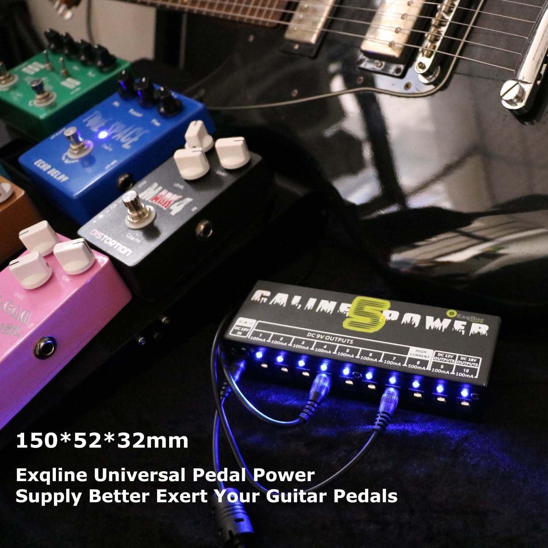 Pedal de guitarra Fuente de alimentación – exqline efecto Pedal ...