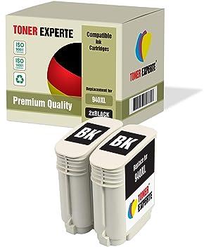 2 XL TONER EXPERTE® Compatibles con HP 940XL 940 XL C4906AE ...