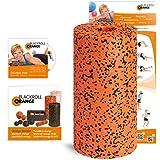 Faszienrolle Blackroll Orange Pro - Massagerolle für Faszien mit Anleitung, Übungs-DVD, Übungsposter