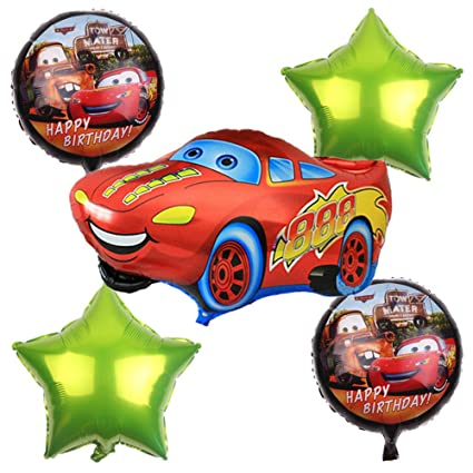 Amazon.com: cutetrees coches rayo mcqueen globos de ...