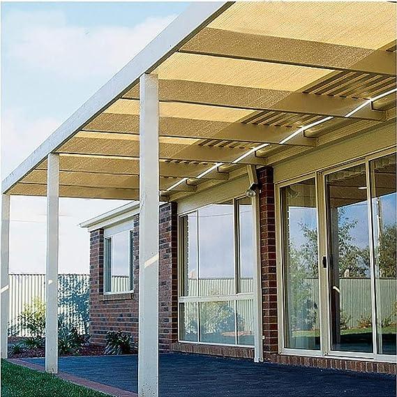 Balcón De Privacidad Cortina Protectora Sombra De Tela con Ojales, Lona De Malla Beige For Exterior, Patio Trasero, Jardín, Granero (Size : 3.5x8m): Amazon.es: Hogar