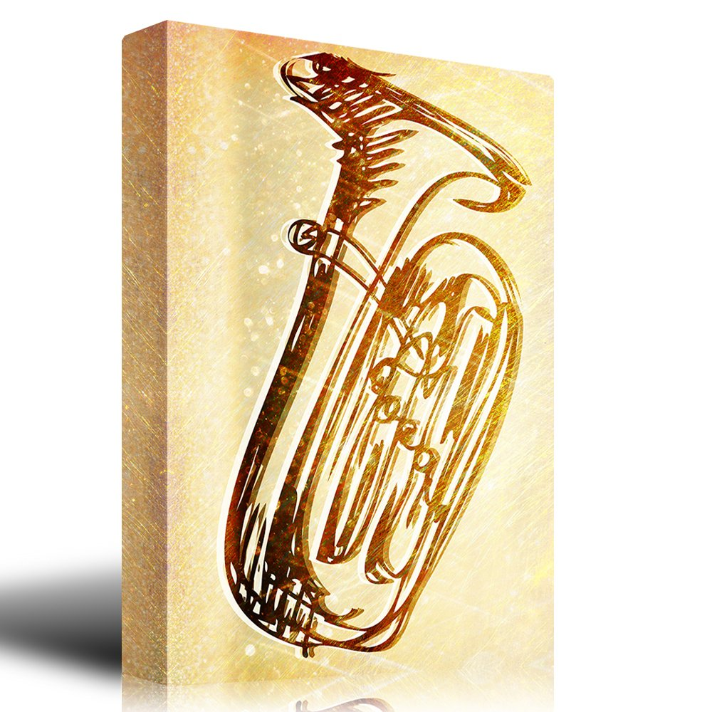 Magnificent Trumpet Wall Art Illustration - Wall Art Collections ...