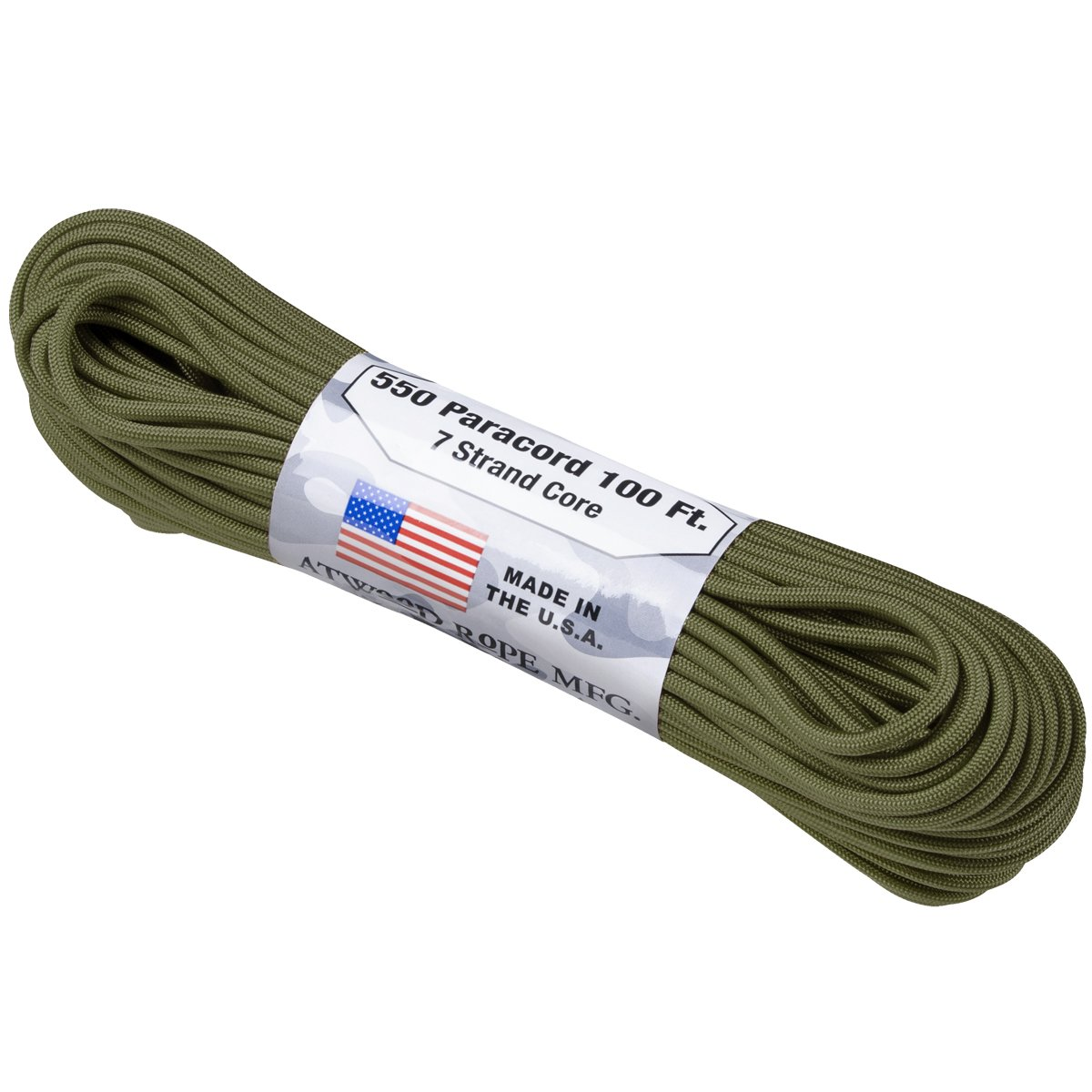 Atwood Rope 550 Lbs Para Cord Oliv Gr/ün
