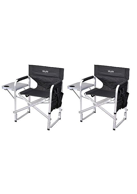 Amazon.com: Elegante silla plegable para director de camping ...