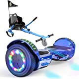 """EverCross Hoverboard, Self Balancing Scooter Hoverboard with Seat Attachment, 6.5"""" Hover Board Scooter with Bluetooth…"""