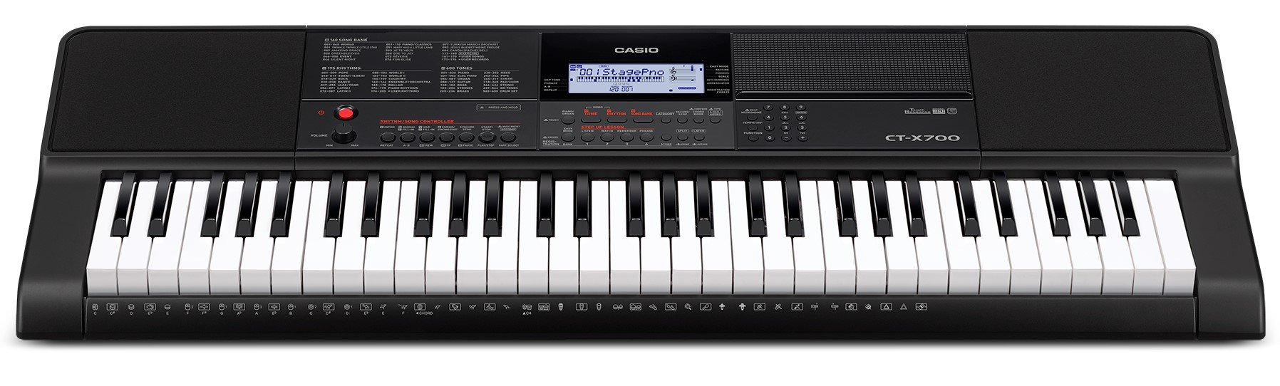 Casio CT-X700 Portable Keyboard Bundle with Stand, Bench, Sustain Pedal, Power Adapter, Austin Bazaar Instructional DVD, and Polishing Cloth by Casio (Image #3)