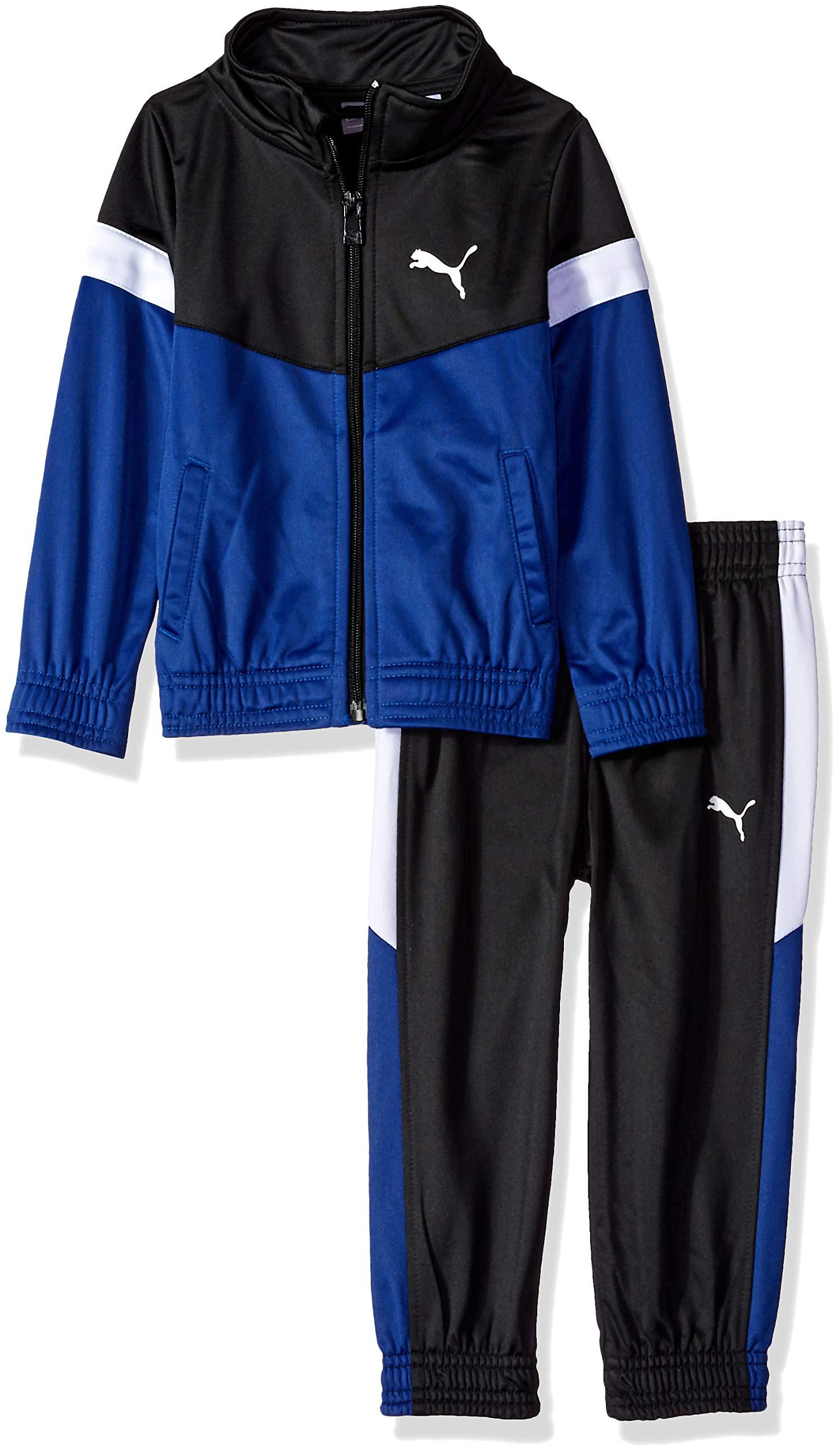 PUMA Toddler Boys' Tricot Pant Set, Sodalite Blue, 4T