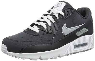 get nike air max 90 essential svart grå mennns trainers