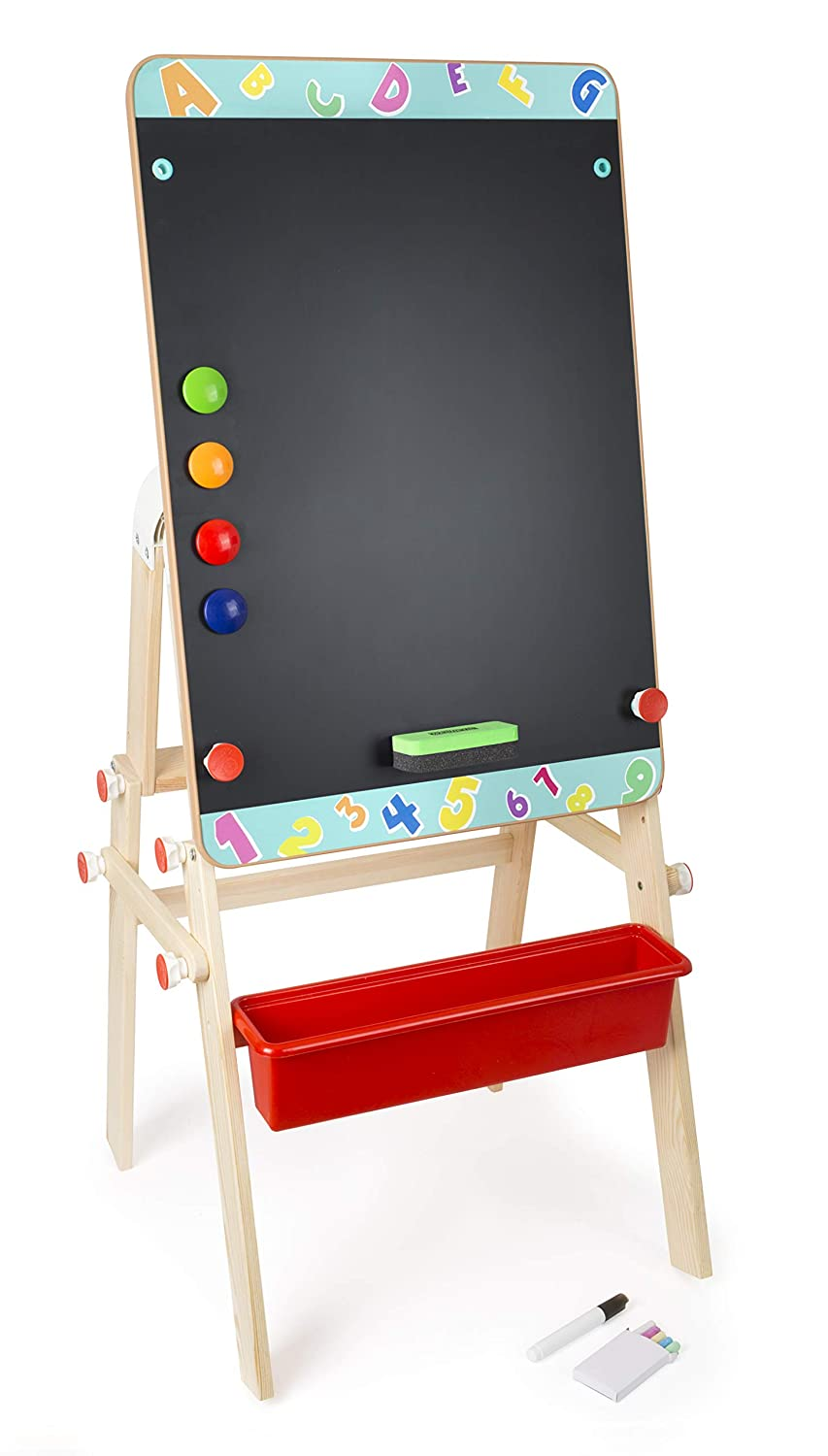 small foot company Wooden 2-in-1 Chalkboard Table