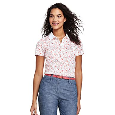 Buy Cheap New Styles Womens Petite Short Sleeve Print Pique Polo - 10 -12 - Orange Lands End Cheap Best Wholesale New And Fashion Wholesale Price For Sale Buy Cheap Low Shipping KfM2YCnA4l