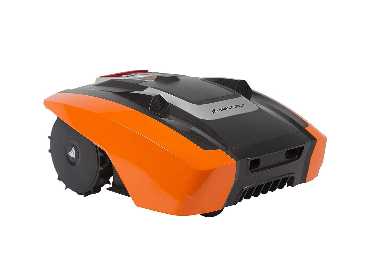 Yard Force Amiro400 Robot Cortacésped con tecnología sensorial ultrasónica, Naranja/Negro
