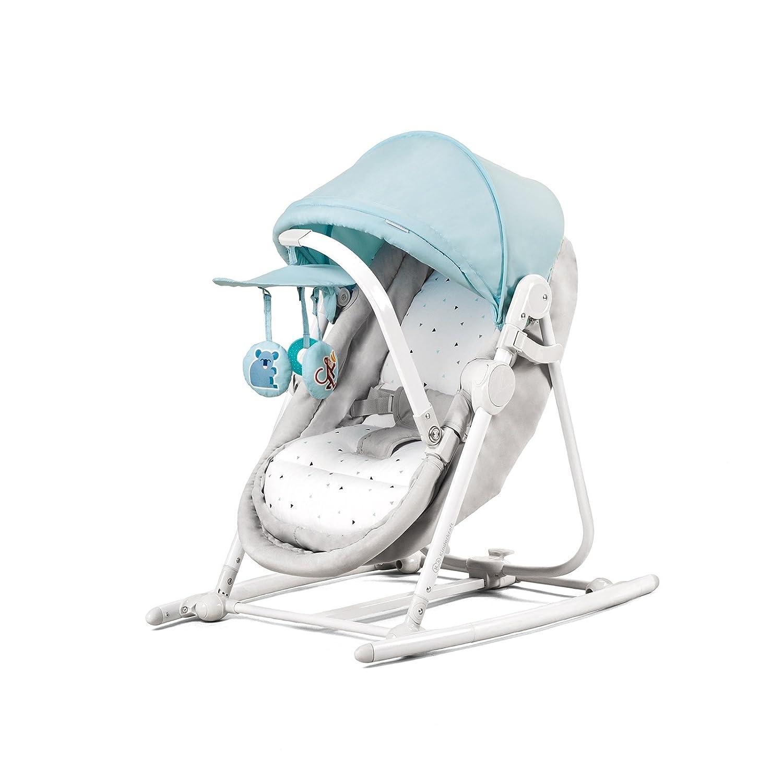 Kinderkraft Unimo Siège à bascule pour bébé, berceau, bleue 4Kraft