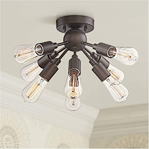 Hemingson Modern Ceiling Light Semi Flush Mount Fixture Antique LED Edison Oil Rubbed Bronze 20 3 4 Wide Sputnik Style for Bedroom Kitchen Living Room Hallway Bathroom – Possini Euro Design