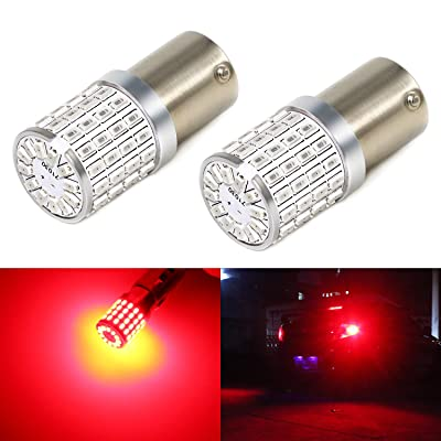 Phinlion Super Bright 3014 72-SMD BA15S 1156 1073 7506 Red LED Bulb for Brake Tail Turn Signal Light: Automotive