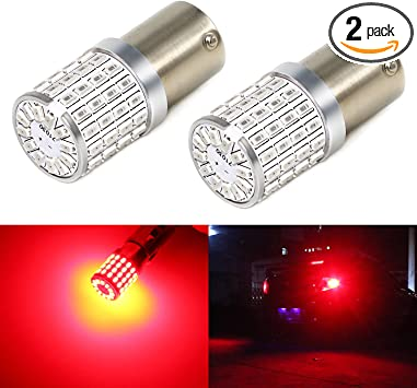 Phinlion Super Bright 3014 72-SMD BA15S 1156 1073 7506 Amber Yellow LED Light Bulbs for Turn Signal Blinker Lights