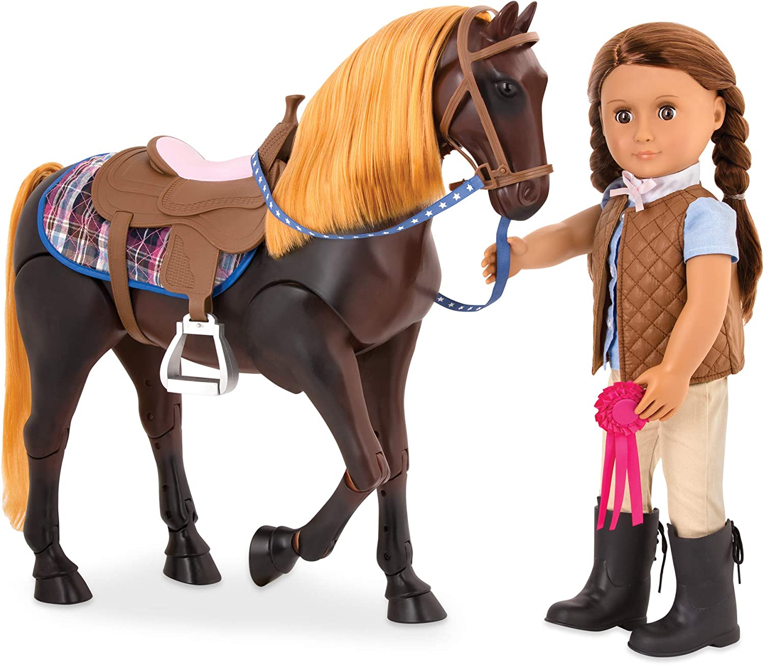 """Our Generation Horse Show Champion Set 18/"""" Doll Horse Accessories NEW!"""