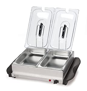 Betty Crocker Stainless Steel Buffet Server and Warming Tray, Silver - BC-2587CY