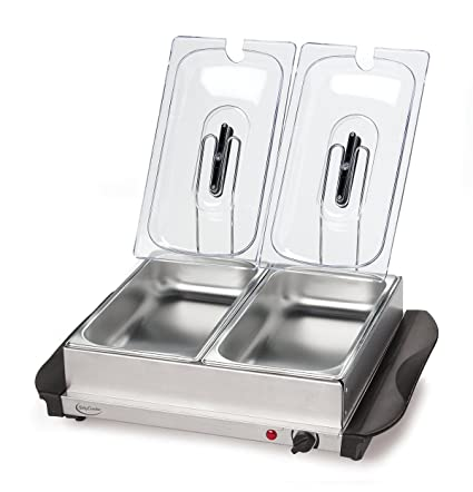 amazon com betty crocker stainless steel buffet server and warming rh amazon com betty crocker stainless steel buffet server and warming tray silver kingavon bs100 3-pan stainless steel buffet server and warming tray