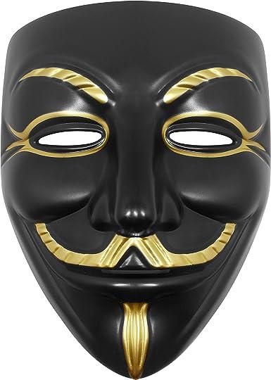 Udekit Hacker Mask V for Vendetta Mask Halloween Cosplay Costume Party Props