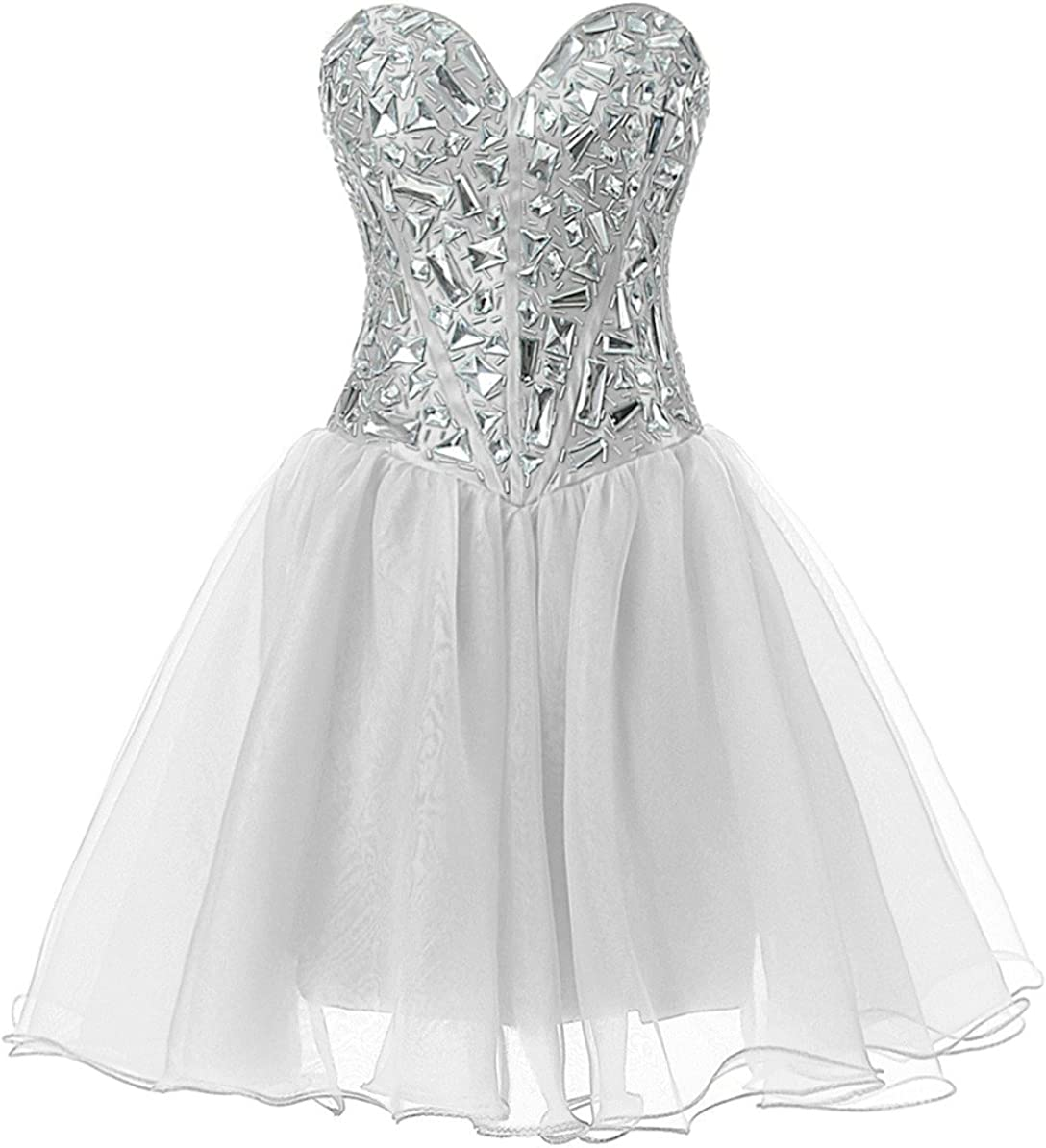 Vantexi Womens Short Crystal Homecoming Dress Cocktail Party Gowns