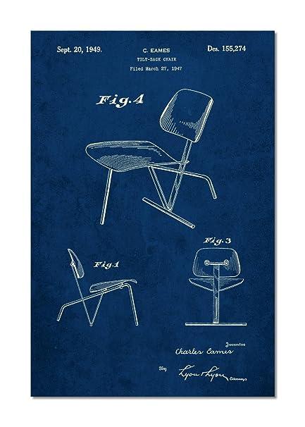 Eames Tilt Back Chair Patent Poster
