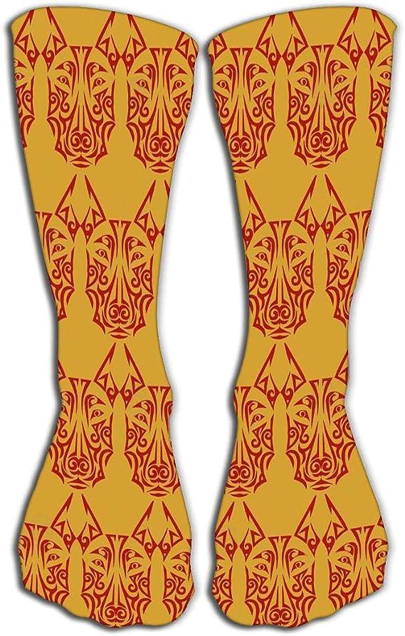 GHEDPO Calcetines Altos Thin High Socks High Graduated Compression ...