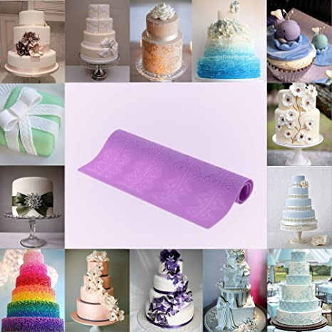 Amazon.com : Purple Kitchen Accessories Silicone Fondant ...
