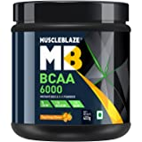 MuscleBlaze BCAA 6000 Amino Acid Powder (Tangy Orange, 0.88 lbs / 400g, 50 Servings)