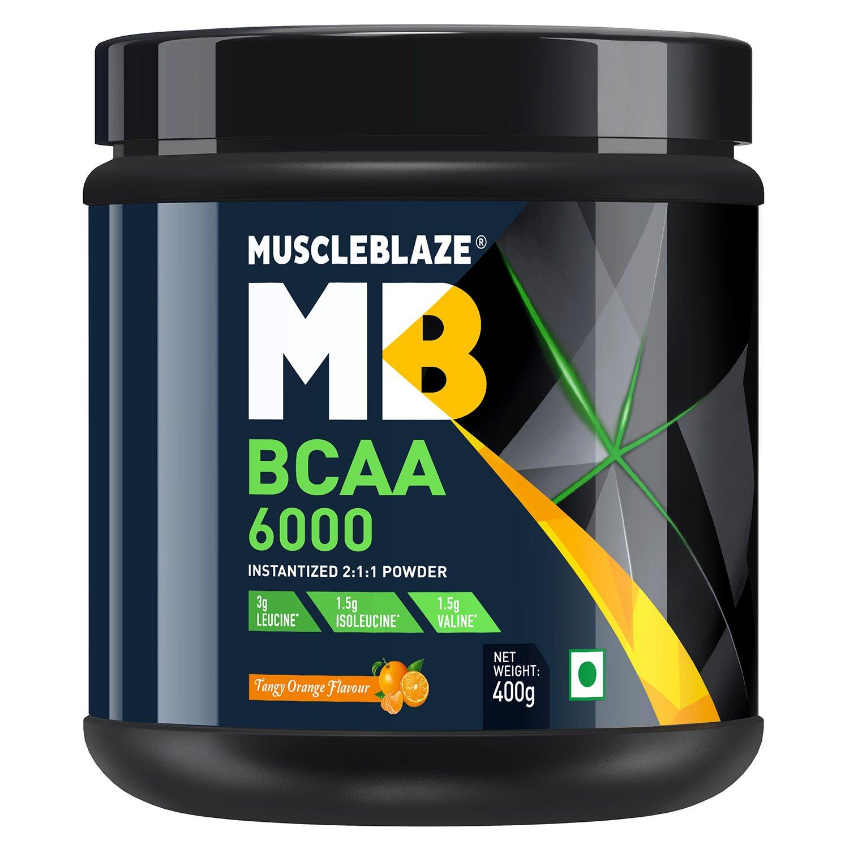 MuscleBlaze BCAA 6000 Amino Acid Powder 088 lbs400g 50 Serv