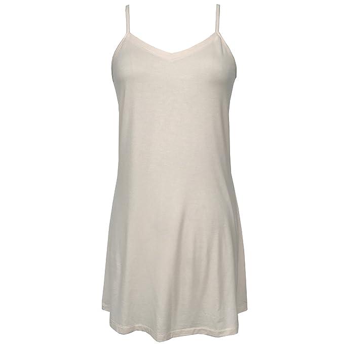 ecc7fc836c Bamboo Full Slip Dress Lingerie Adjustable Breathable Womens Sleepwear  Loungewear (Small)
