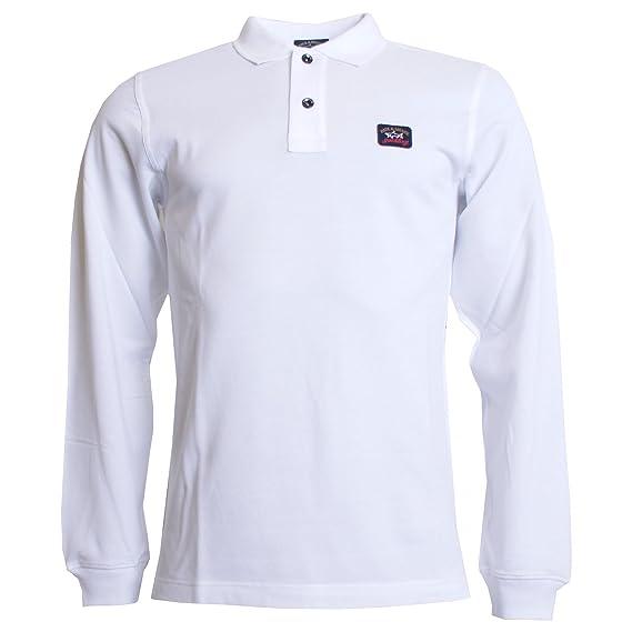 Paul & Shark Camisa de Polo blanco de manga larga XXX Large ...