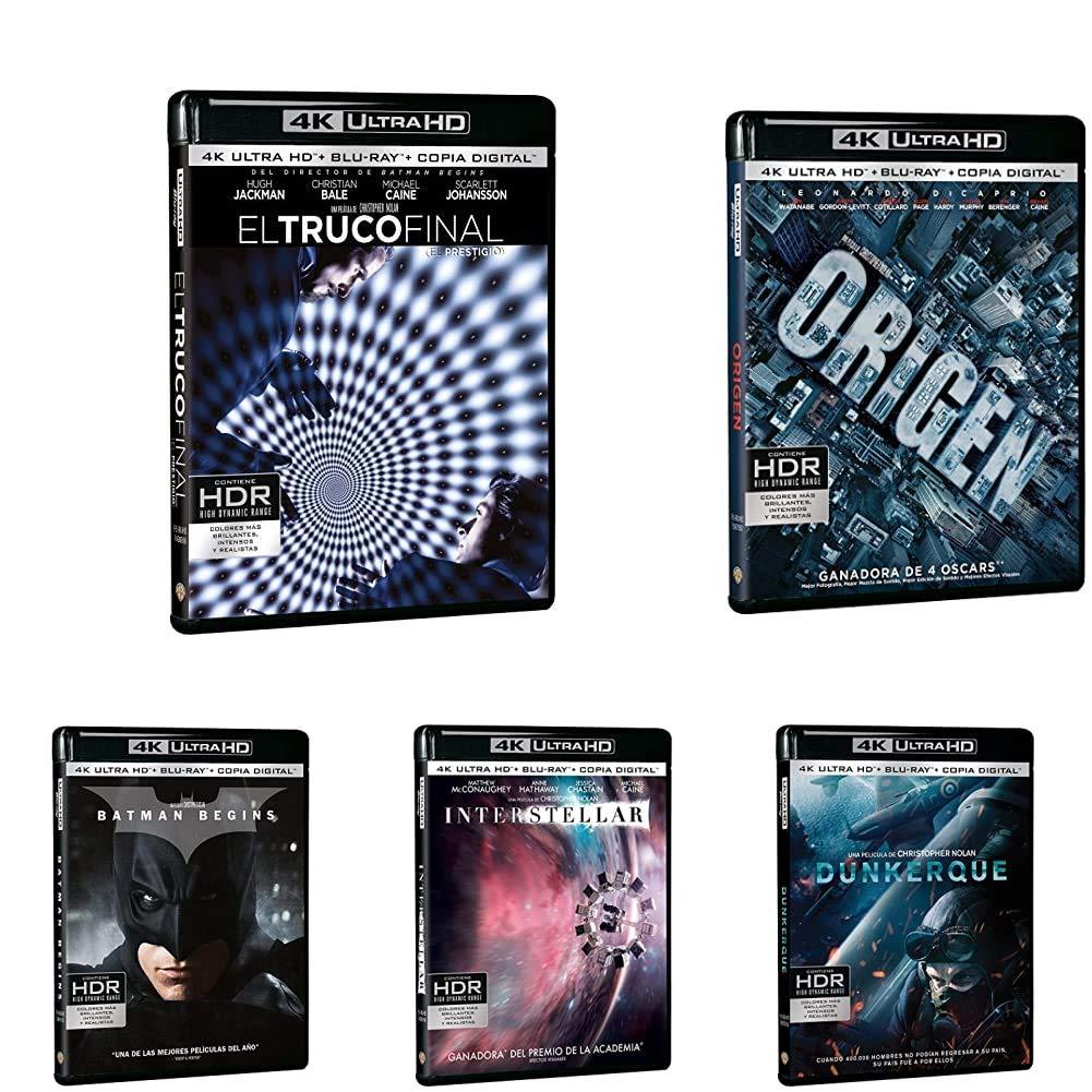Pack Christopher Nolan - Incluye: El Truco Final + Origen + Dunkerque + Interstellar + Batman Begin + El Caballero Oscuro + El Caballero Oscuro 4k Uhd Blu-ray: Amazon.es: Cine y Series TV