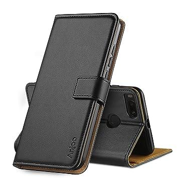 Anjoo Compatible para Funda Xiaomi Mi A1, Suave PU Cuero Carcasa con Flip Case Cover, Cierre Magnético, Función de Soporte, Billetera con Tapa ...