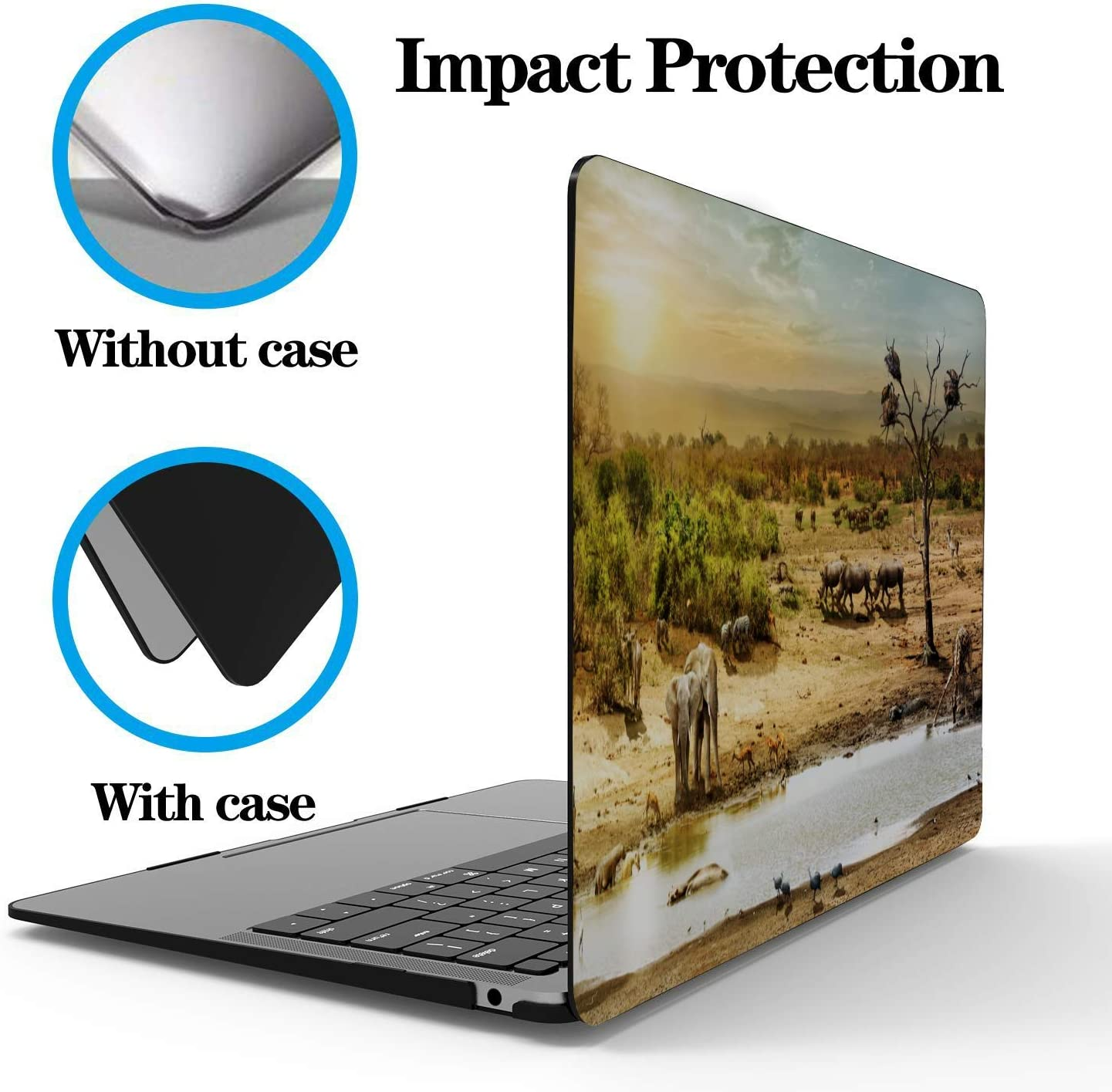 MacBook 13 Inch Case Rose Window Notre Dame De Paris Plastic Hard Shell Compatible Mac Air 11 Pro 13 15 MacBook Air 2018 Case Protection for MacBook 2016-2019 Version