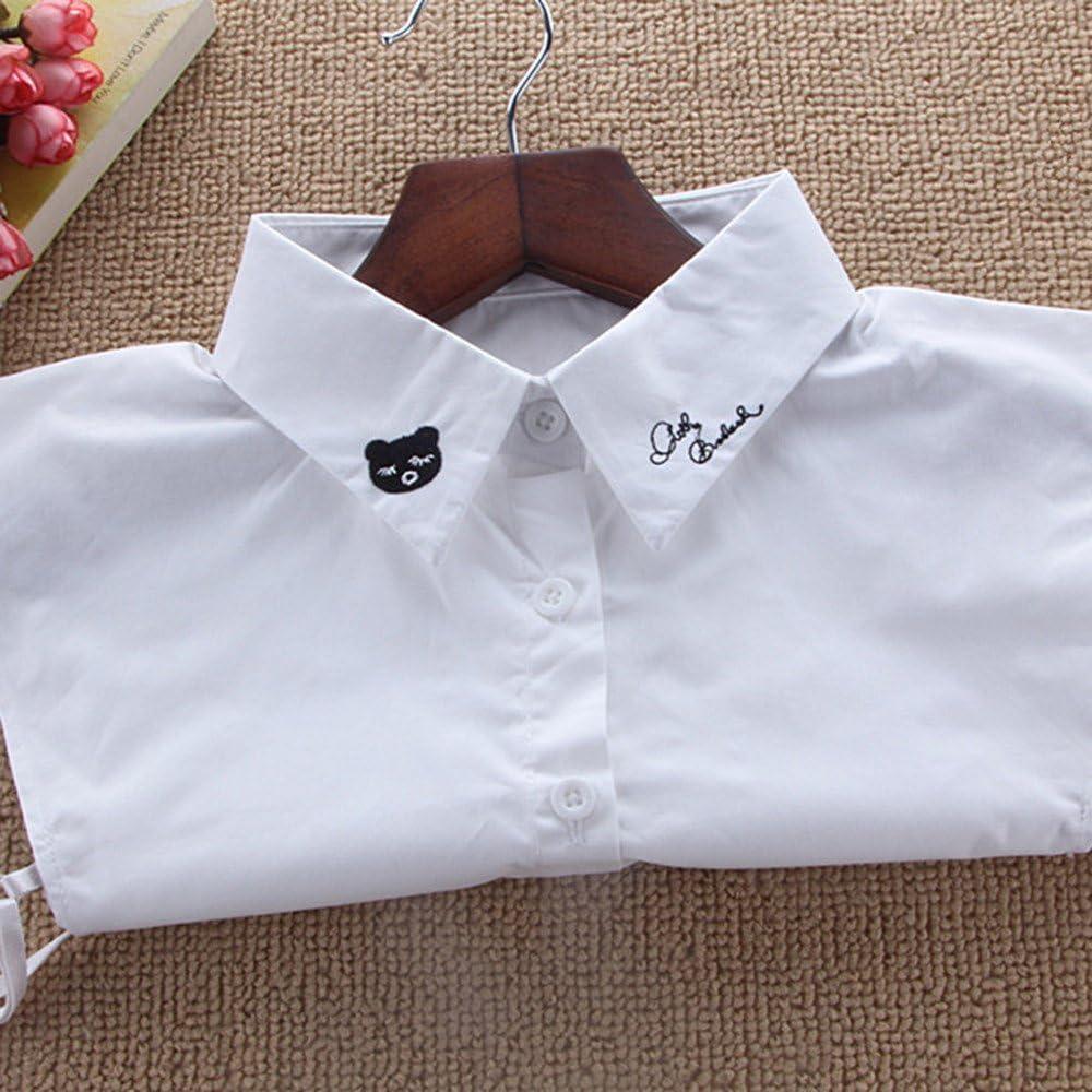 Cuello Falso Desmontable Mitad Camisa Collar Encaje Blusa para Mujer Pull Ropa Accesorio Fannyfuny: Amazon.es: Ropa y accesorios