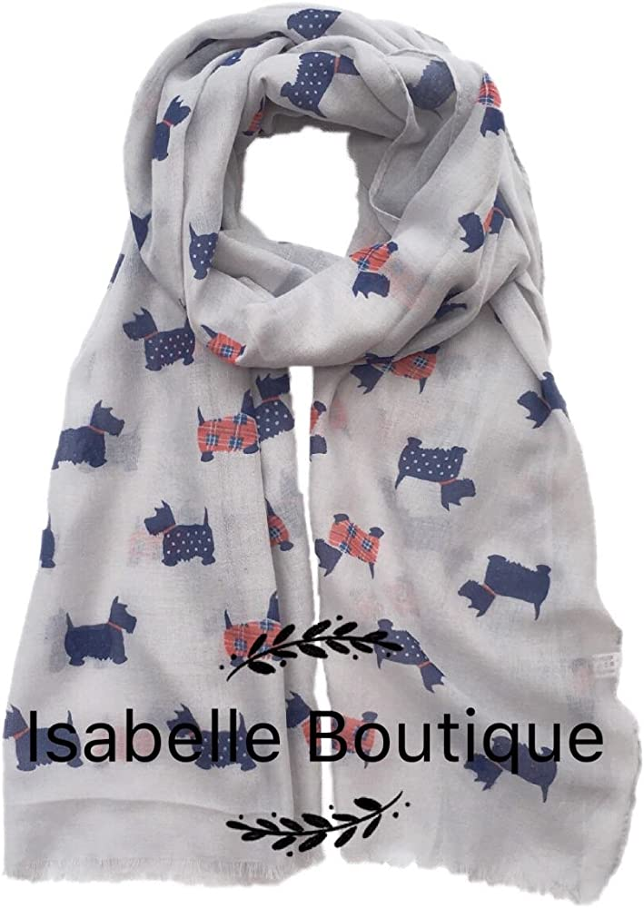 New Ladies Women Dog Print Scarf Pashmina Fashion Neckerchief Animal Print Scarf
