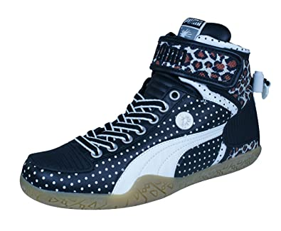 half off a4e4d b7239 PUMA Mihara Yasuhiro My 45 Mens Leather Sneakers Hi Tops-Black-4