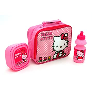74dd9c5162 Buy Kids Stuffs HELLO KITTY LUNCH BAG KIT - INCLUDING WATER BOTTLE, SANWICH  BOX & LUNCH BAG WITH PVC FRONT & VISIBLE BACK COVER Online at Low Prices in  ...