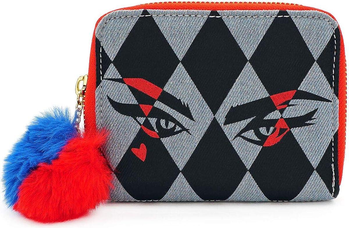 Loungefly x Birds of Prey Harley Quinn Eyes Zip-Around Wallet