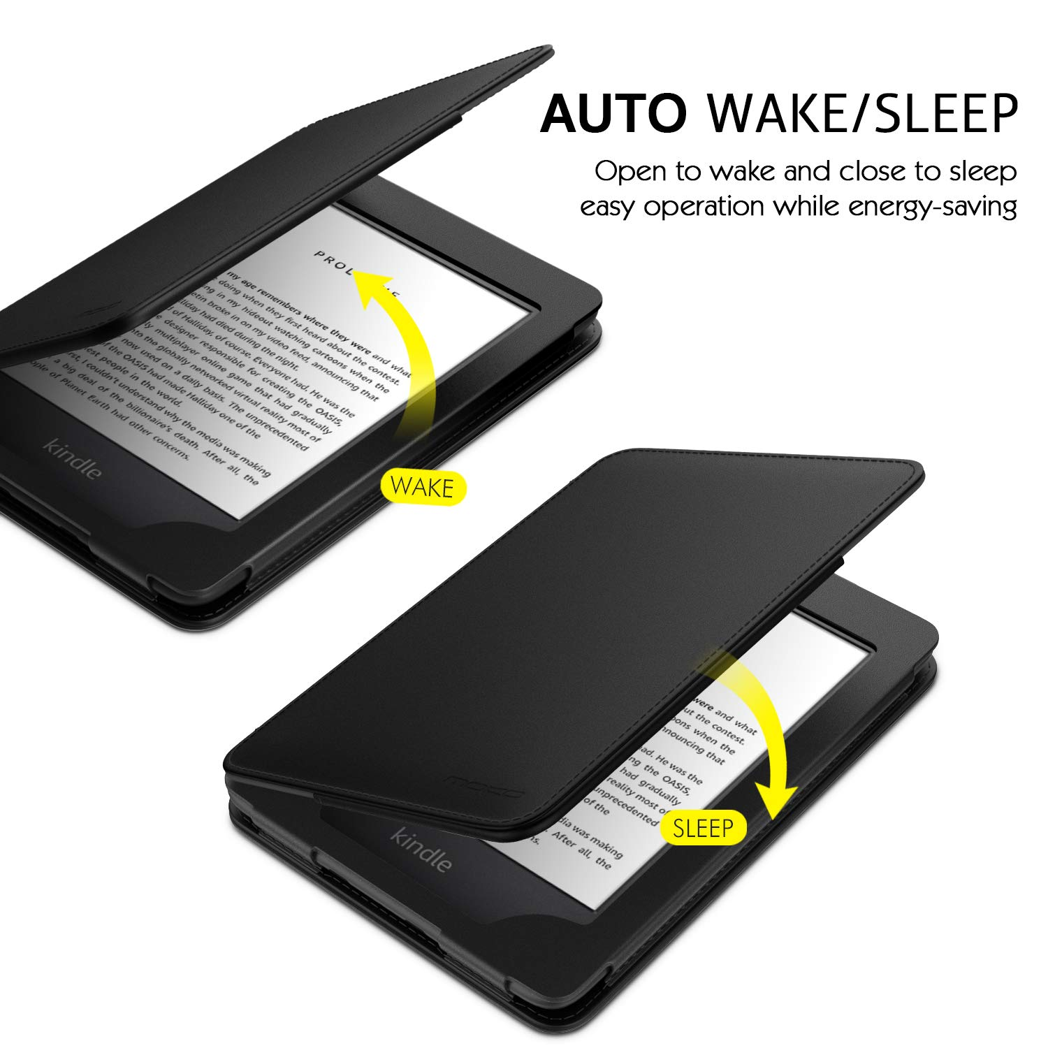 Rose Gold MoKo Case Fits All-New Kindle 10th Generation 2019 Release Auto Wake//Sleep Lightweight Protective Shell Cover with Pocket