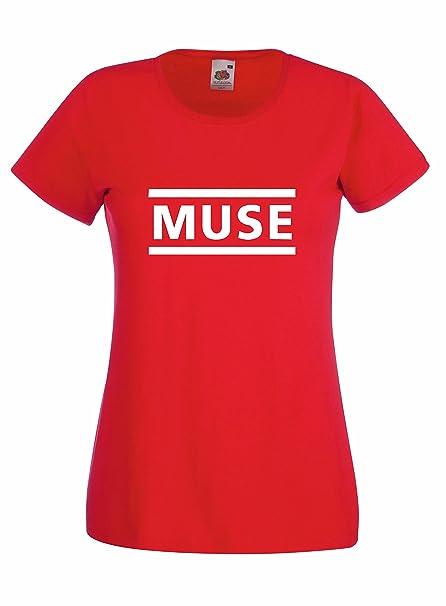 Camiseta Mujer Muse - camiseta rock band 100% algodon LaMAGLIERIA: Amazon.es: Ropa y accesorios