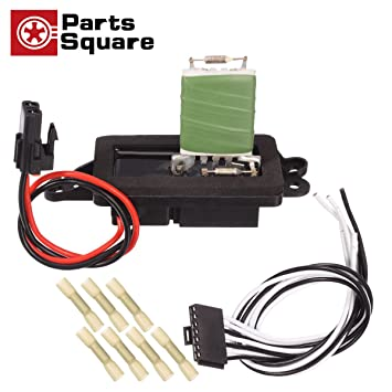 partssquare hvac blower motor resistor & harness compatible with buick rainier 2004 2007 replacement for chevy trailblazer,gmc envoy,oldsmobile  04 envoy blower motor wiring diagram #7