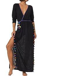 Pitusa Santorini Dress Cover Up   Black