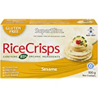 Superslim Superslim Rice Crisps Sesame 100g (Pack of 12), Sesame, 1200 Grams